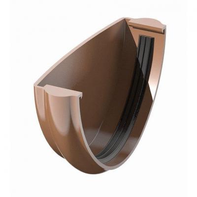 Поливент (ТН) заглушка желоба, коричневый
