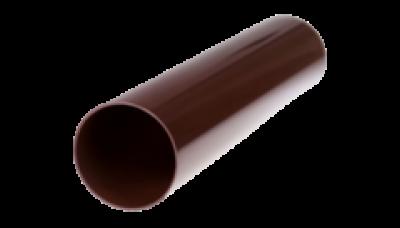 002/4- Труба водост. ф 100, дл. 4м, коричневый, Польша