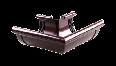 003 - Угол наружний ф 130, 90 гр, коричневый, Польша