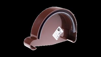 005 - Дно желоба правое ф130, коричневый, Польша