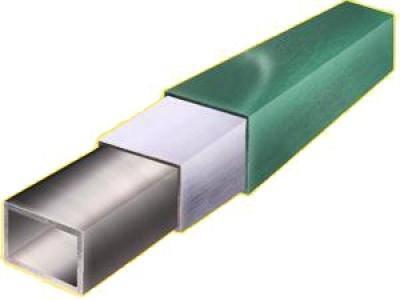 Несущий профиль оцинкованный 60х60х3000 окрашенный с заглушкой, RAL 8017