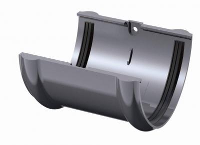 Соединитель желоба ТН, серый