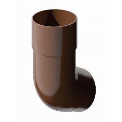 Поливент (ТН) колено трубы 135 гр., коричневый