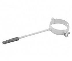 019-В- Держатель трубы метал.L 150 ф100, белый, Польша