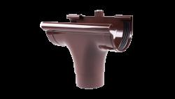 007 - Ливнеприемник проходной ф130, коричневый, Польша