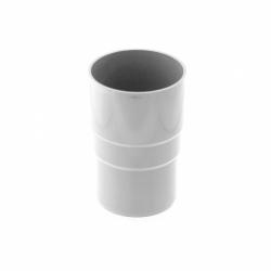 110 - Соединитель трубы водост. ф 75, белый, Польша