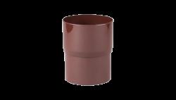 010 - Соединитель трубы водост. ф 100, коричневый, Польша