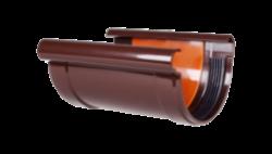 011 - Соединитель желоба с прокладкой ф 130, коричневый, Польша