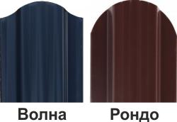 Штакетник профильный ШПС-116х19х0,5-О-Пэ-Д RAL 3005, РОНДО