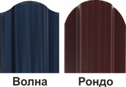 Штакетник профильный ШПС-116х19х0,5-О-Пэ-Д RAL 5010, РОНДО