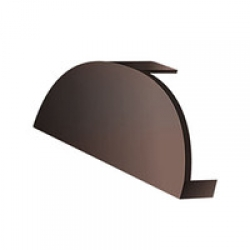 Заглушка конька круглого простая Norman (ПЭ-01-8004-0,5) РБ