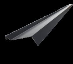 Планка примыкания верхняя 2м.п., D-Matt 9005 (черный)