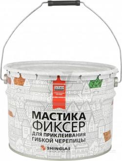 Мастика для гибкой черепицы ТЕХНОНИКОЛЬ №23 (Фиксер), ведро 12 кг, РФ,