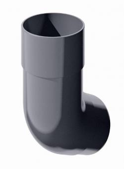Колено трубы ТН, серый