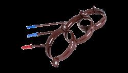 019-А- Держатель трубы метал.L 100 ф100, коричневый, Польша