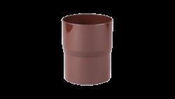 110 - Соединитель трубы водост. ф 75, коричневый, Польша