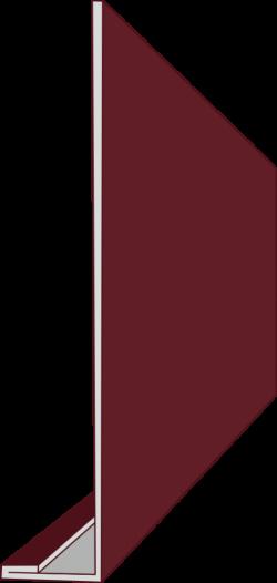 Планка лобная 120х30х10 (ПЭ-01-7024-0,45) РБ