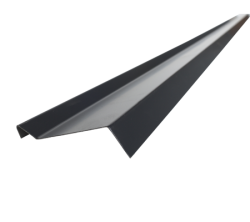 Планка примыкания верхняя 2м.п., Х-Matt 9005 (черный)