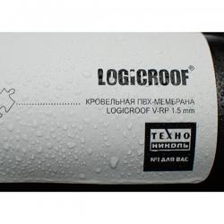 Покрытие для крыш, кровельная ПВХ мембрана Logicroof V-RP  1.5 серая 2,1х20 м.